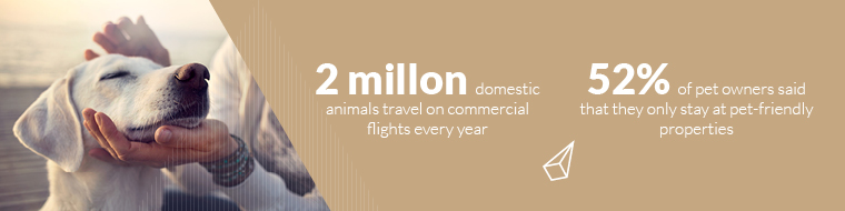 2 million domestic animals travel on commercial flights every year.